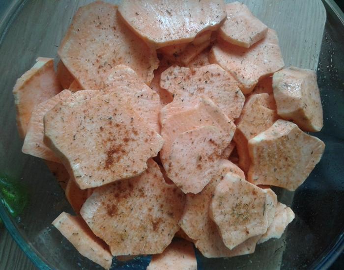 cartofi dulci picanti